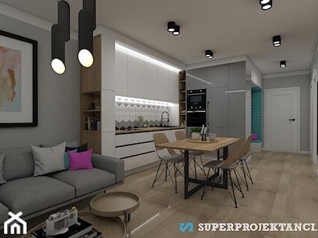 Aranżacje wnętrz - Kuchnia: KUCHNIA I SALON - SUPERPROJEKTANCI.PL. Przeglądaj, dodawaj i zapisuj najlepsze zdjęcia, pomysły i inspiracje designerskie. W bazie mamy już prawie milion fotografii!