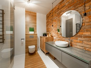 Moje mieszkanie - Średnia biała łazienka na poddaszu w bloku w domu jednorodzinnym bez okna, styl skandynawski - zdjęcie od Mieszkanie to wyzwanie