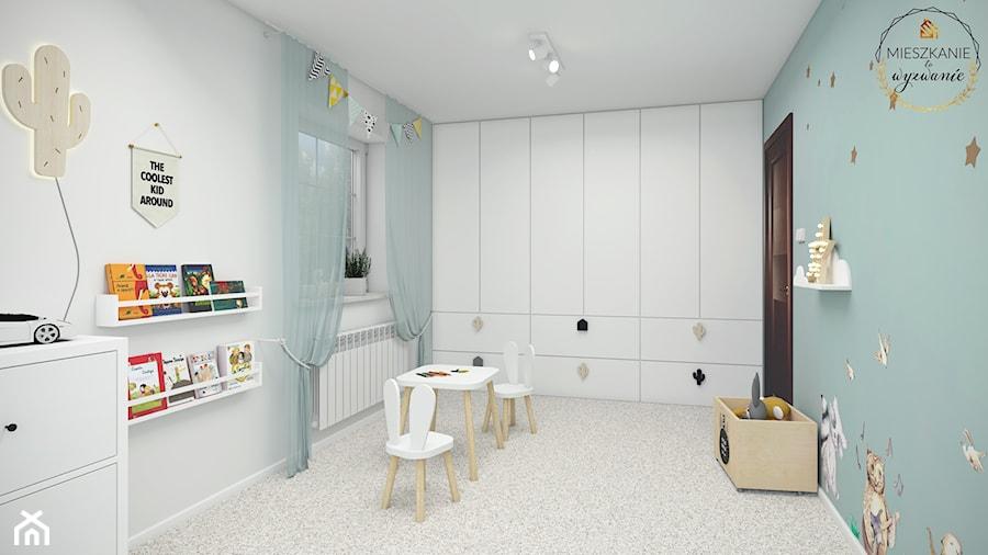 Aranżacje wnętrz - Pokój dziecka: Pokój Filipa - Średni szary niebieski pokój dziecka dla chłopca dla dziewczynki dla niemowlaka dla malucha - Mieszkanie to wyzwanie. Przeglądaj, dodawaj i zapisuj najlepsze zdjęcia, pomysły i inspiracje designerskie. W bazie mamy już prawie milion fotografii!