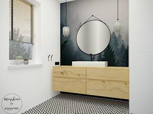 Dom pod Warszawą - Simon G2 - Mała biała łazienka, styl skandynawski - zdjęcie od Mieszkanie to wyzwanie