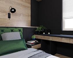 Sypialnia - Średnia czarna sypialnia małżeńska, styl nowoczesny - zdjęcie od Katrilo Projektowanie wnętrz - Homebook
