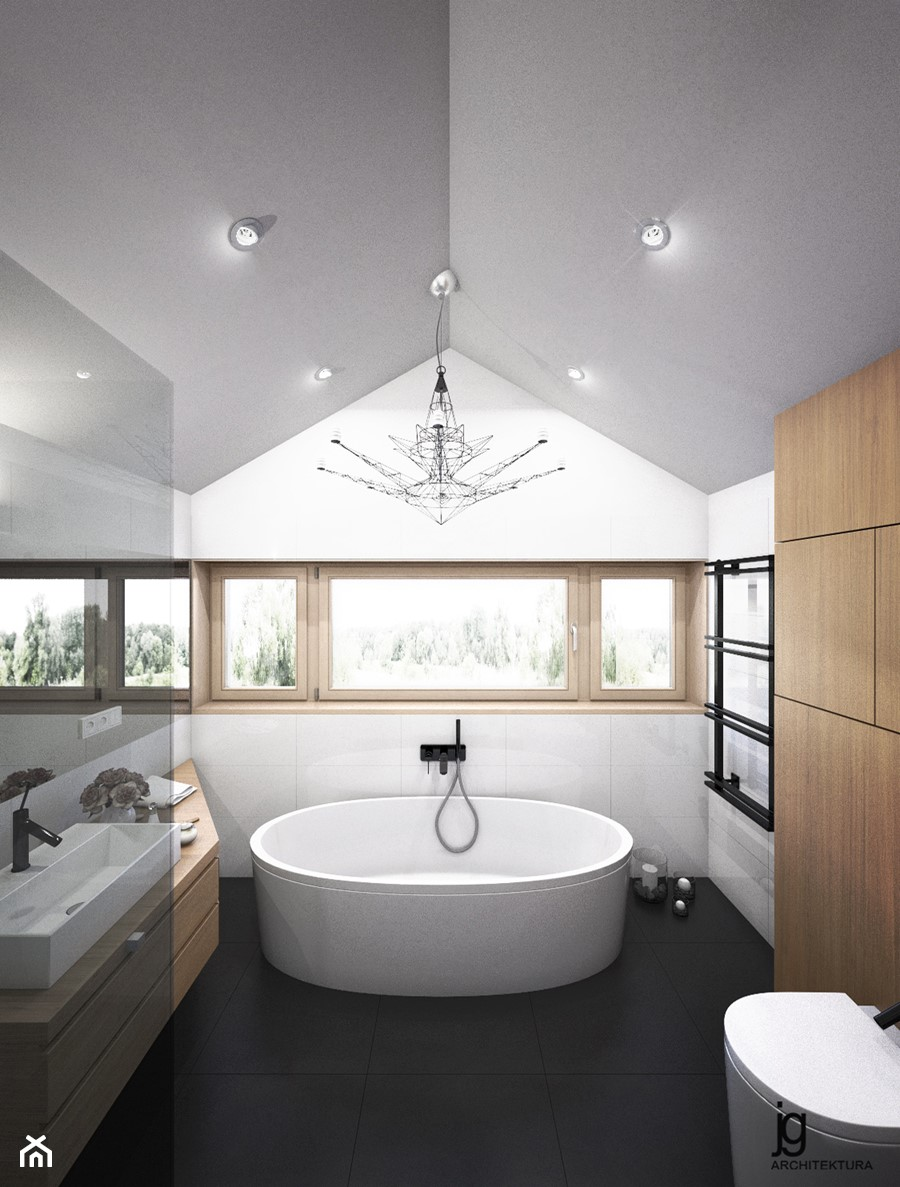 Projekt łazienki w stylu minimalistycznym - zdjęcie od jgA.