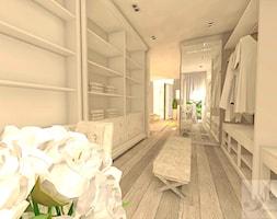 DOM Z OTWARTA ANTESOLĄ - Duża otwarta garderoba przy sypialni, styl art deco - zdjęcie od Boskie Wnetrza i Ty