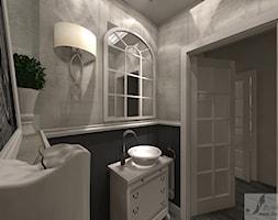 ARANŻACJA DOMU W GŁOGOWIE 1 - Mała czarna łazienka w bloku w domu jednorodzinnym bez okna, styl prowansalski - zdjęcie od Boskie Wnetrza i Ty