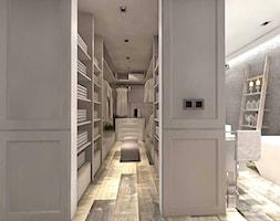 DOM W ŻARACH - Średnia otwarta garderoba przy sypialni, styl art deco - zdjęcie od Boskie Wnetrza i Ty
