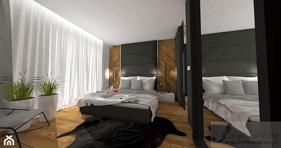 Aranżacja Sypialni W Odcieniach Ciepłego Drewna średnia