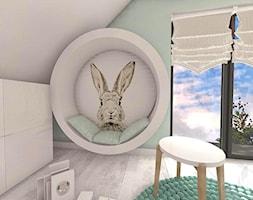 POKÓJ FANKI KRÓLICZKÓW - Średni szary pokój dziecka dla dziewczynki dla malucha - zdjęcie od Boskie Wnetrza i Ty - Homebook
