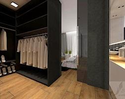 ARANŻACJA SYPIALNI W ODCIENIACH CIEPŁEGO DREWNA - Garderoba, styl industrialny - zdjęcie od Boskie Wnetrza i Ty