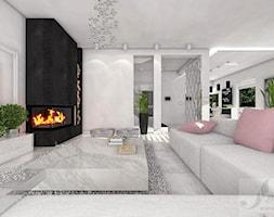 DOM W GŁOGOWIE - Średni biały salon, styl glamour - zdjęcie od Boskie Wnetrza i Ty