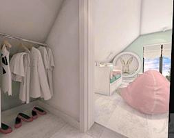 POKÓJ FANKI KRÓLICZKÓW - Duży biały zielony pokój dziecka dla dziewczynki dla malucha dla nastolatka - zdjęcie od Boskie Wnetrza i Ty - Homebook