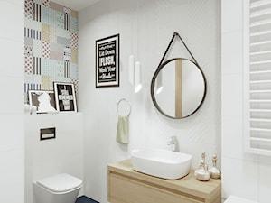 Projekt wnętrza łazienki w nowoczesnym stylu. - zdjęcie od Katarzyna Rudak - Architektura Wnętrz Gryfów Śląski