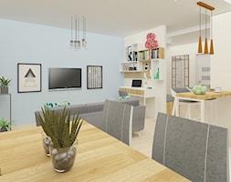 Salon z aneksem kuchennym i jadalnią - zdjęcie od Testal