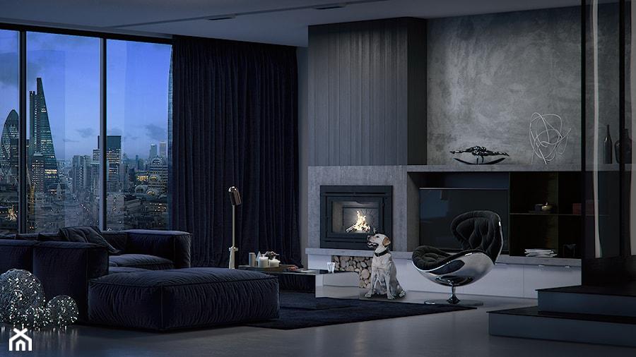 Aranżacje wnętrz - Salon: Living Room - Średni szary salon, styl nowoczesny - Irina Pravko. Przeglądaj, dodawaj i zapisuj najlepsze zdjęcia, pomysły i inspiracje designerskie. W bazie mamy już prawie milion fotografii!