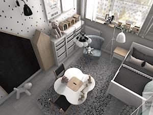 Pokoik trzyletniej Liwii - Mały biały pokój dziecka dla chłopca dla malucha, styl skandynawski - zdjęcie od Designbox Marta Bednarska-Małek