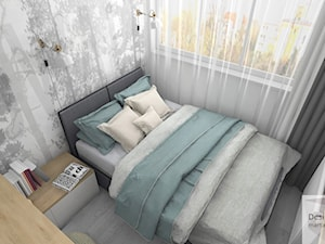 Kompaktowa sypialnia - Mała sypialnia, styl skandynawski - zdjęcie od Designbox Marta Bednarska-Małek