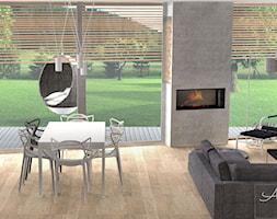 Panoramiczne okno w salonie - zdjęcie od Aleksandra Tymińska Projektowanie Wnętrz - Homebook