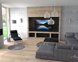 Przestronny salon - zdjęcie od Aleksandra Tymińska Projektowanie Wnętrz - Homebook