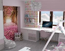 Pokój dla nastolatki - zdjęcie od Aleksandra Tymińska Projektowanie Wnętrz