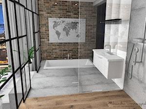 Wanna wpuszczona w podłogę - zdjęcie od Aleksandra Tymińska Projektowanie Wnętrz