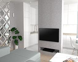 Lustrzana ściana - zdjęcie od Aleksandra Tymińska Projektowanie Wnętrz
