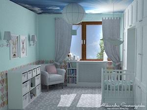 Miętowy pokój dla dziecka - zdjęcie od Aleksandra Tymińska Projektowanie Wnętrz