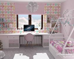 Różowy pokój dla dziewczynki - zdjęcie od Aleksandra Tymińska Projektowanie Wnętrz - Homebook