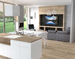 Kuchnia otwarta na salon - zdjęcie od Aleksandra Tymińska Projektowanie Wnętrz - Homebook