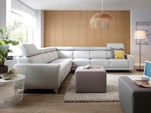 Aranżacje - Duży biały beżowy salon, styl skandynawski - zdjęcie od Wajnert Meble