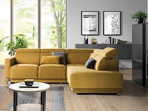 Aranżacje - Duży biały salon, styl nowoczesny - zdjęcie od Wajnert Meble