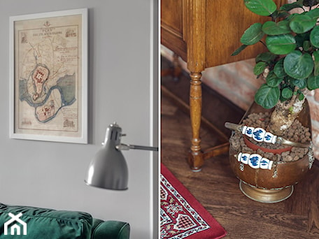 Aranżacje wnętrz - Salon: Apartament na wynajem na krakowskim Kazimierzu - Mały szary salon, styl eklektyczny - double look design. Przeglądaj, dodawaj i zapisuj najlepsze zdjęcia, pomysły i inspiracje designerskie. W bazie mamy już prawie milion fotografii!