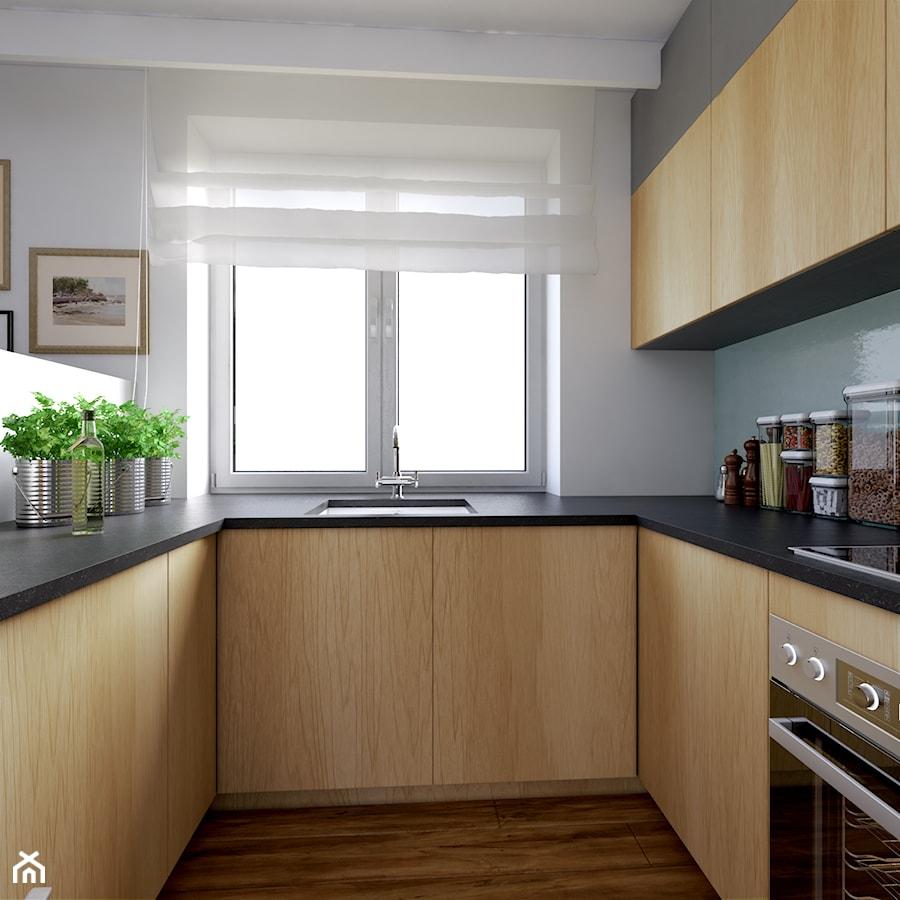 Mala Kuchnia W Ksztalcie Litery U Z Oknem Q Housepl