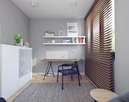 Rodzinnie z loftową nutą - Średnie szare biuro domowe kącik do pracy w pokoju, styl nowoczesny - zdjęcie od double look design