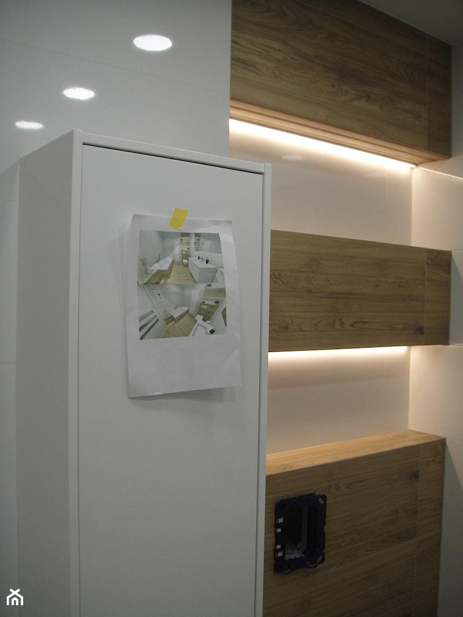 Projekt łazienki Półki Podświetlane Zdjęcie Od Abc Remonty