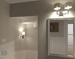 SEGMENT MIESZKALNY - Poddasze 50m2 - Mały biały hol / przedpokój, styl klasyczny - zdjęcie od HD PROJEKT - Studio Projektowania Wnętrz
