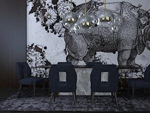 - No.3 Living room - Duża otwarta jadalnia, styl włoski - zdjęcie od Designed by M