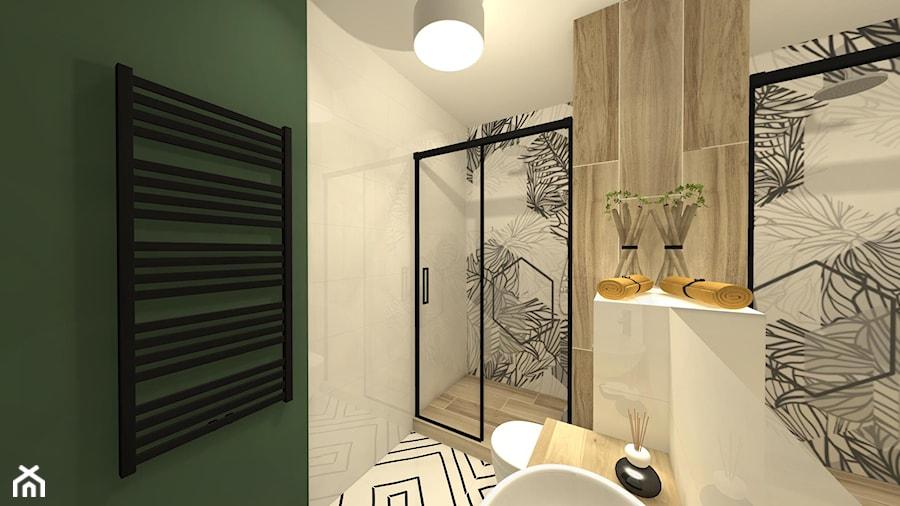 łazienka Z Fototapetą Zdjęcie Od Innerium Karolina Trojga