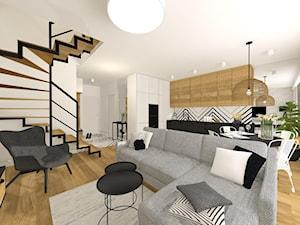 Biało-czarne nowoczesne mieszkanie