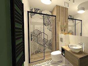 Łazienka z fototapetą - zdjęcie od Innerium Karolina Trojga