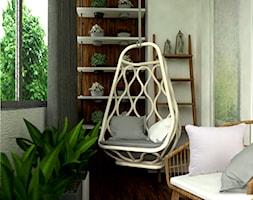 Przytulna loggia - mini ogród zimowy - Średni taras z tyłu domu, styl prowansalski - zdjęcie od kamiko.studio