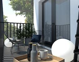 Nowoczesny balkon - Średni taras z tyłu domu, styl skandynawski - zdjęcie od kamiko.studio