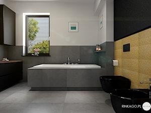 Łazienka z turkusową umywalką - Karina Godlewska RINKAGO.PL - zdjęcie od Karina Godlewska