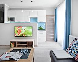 Apartament do wynajęcia_projekt - Średni szary salon, styl nowoczesny - zdjęcie od re-ARCH Home Staging