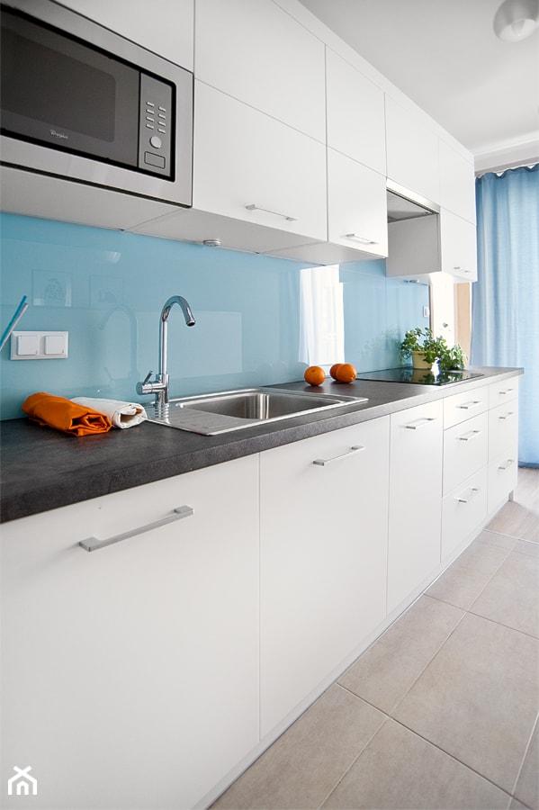 Apartament Do Wynajecia Projekt Srednia Otwarta Niebieska Kuchnia