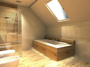Łazienka biel - drewno - zdjęcie od APLES Atelier