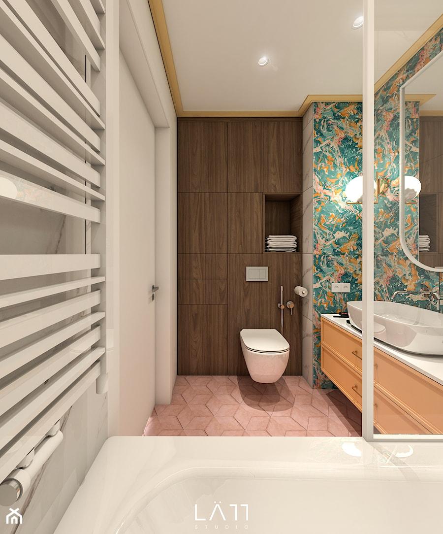 Apartament WolaRe - Łazienka, styl nowoczesny - zdjęcie od LÄTT Studio Wnętrz