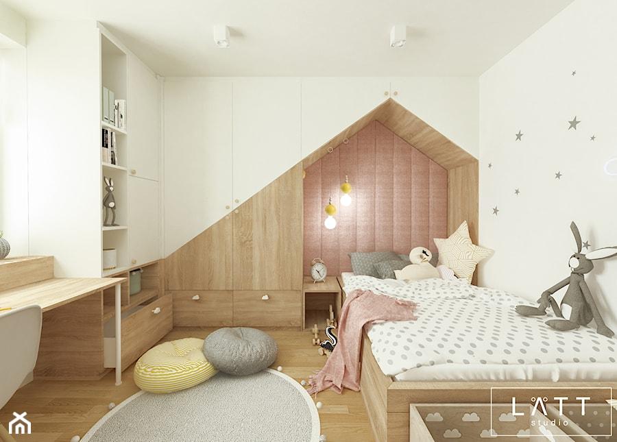 Dom jednorodzinny II - Konstancin - Średni biały pokój dziecka dla chłopca dla dziewczynki dla ucznia dla nastolatka, styl skandynawski - zdjęcie od LÄTT Studio Wnętrz