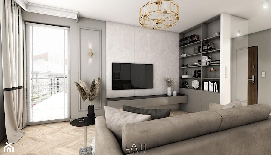 Mieszkanie, Żyrardów - Salon, styl nowoczesny - zdjęcie od LÄTT Studio Wnętrz