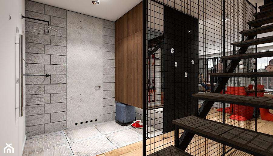 u Scheiblera - Hol / przedpokój, styl industrialny - zdjęcie od LÄTT Studio Wnętrz