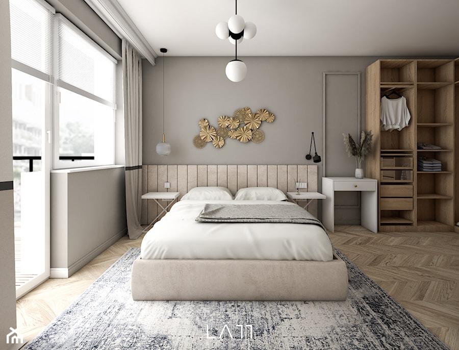 Mieszkanie, Żyrardów - Sypialnia, styl nowoczesny - zdjęcie od LÄTT Studio Wnętrz