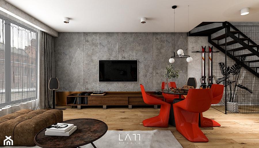 u Scheiblera - Salon, styl minimalistyczny - zdjęcie od LÄTT Studio Wnętrz